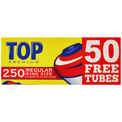 Top Regular King Size Filter Tubes 250ct Box