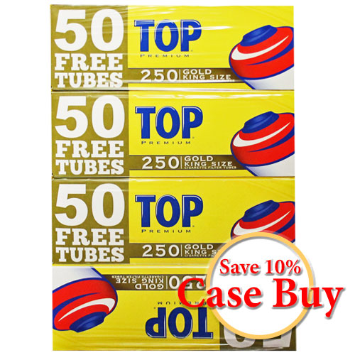 Top Gold King Size Filter Tubes 250ct - 40ct Case