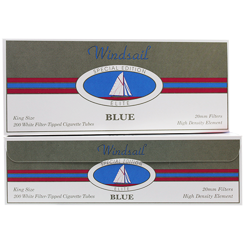 Windsail Elite Blue King Size Filter Tubes 200ct