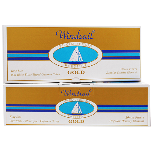 Windsail Prestige Gold King Size Filter Tubes 200ct