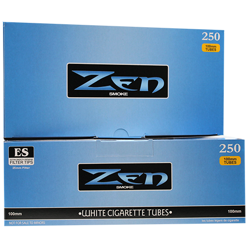 Zen White 100mm Cigarette Filter Tubes 250ct