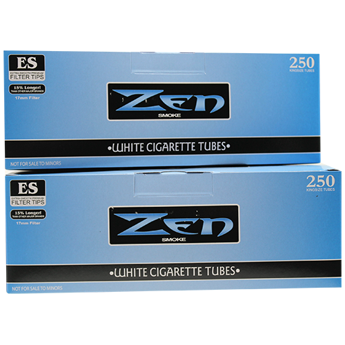 Zen White King Size Cigarette Filter Tubes 250ct