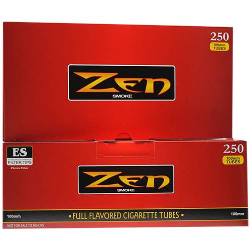 Zen Full Flavored 100mm Cigarette Filter Tubes 250ct