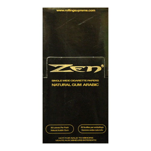 Zen Black Single Wide Rolling Papers 25ct Box