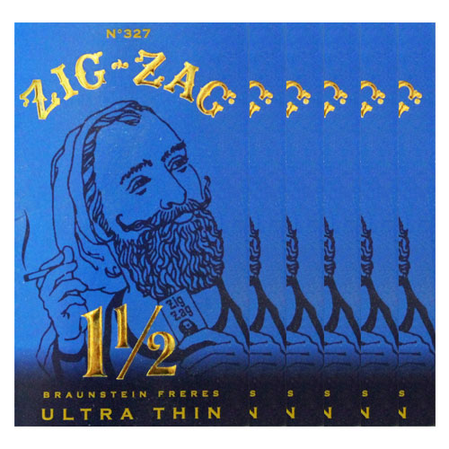 Zig Zag Ultra Thin 1 1/2 Size Rolling Papers 6 Pack