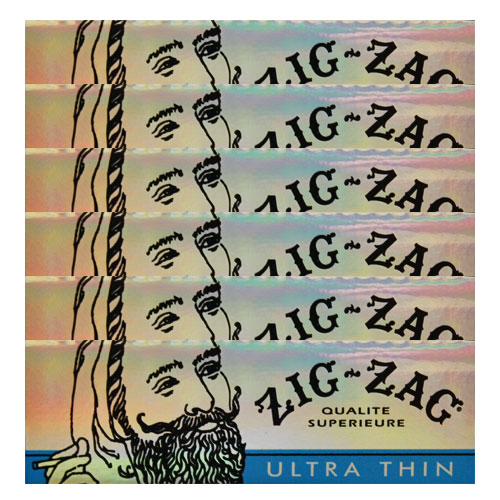 Zig Zag Ultra Thin 1 1/4 Size Rolling Papers 6 Pack