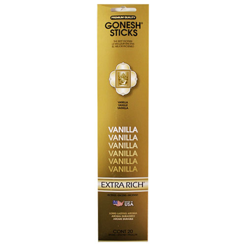 Gonesh Extra Rich Collection Vanilla - 20 Stick Pack