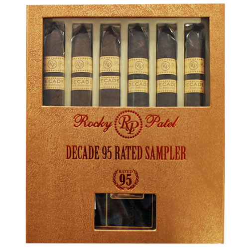 Rocky Patel Decade 95 Rated 6 Cigar Sampler w/ Lighter