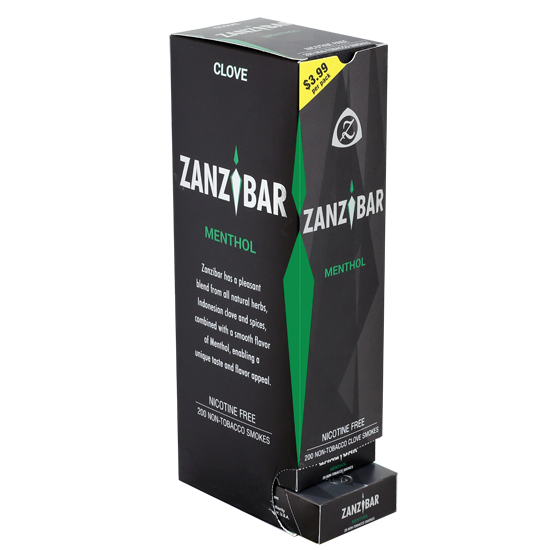 Zanzibar Menthol Clove Herbal Smokes 10ct Carton