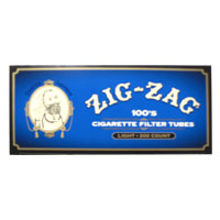 Zig Zag White Tipped 100mm Filter Tubes 200ct Blue Box